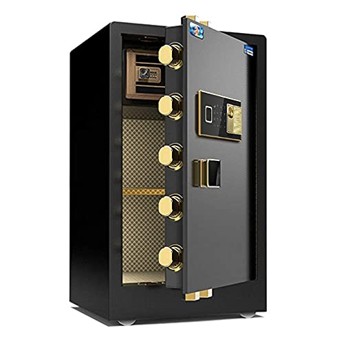 HaoLi Cajas Fuertes Anti-Fuego Antirrobo Caja Fuerte Digital Teclado electrónico de Acero 2 Teclas de anulación Manual Protegen el Dinero Joyas Pasaportes para el hogar o el Negocio