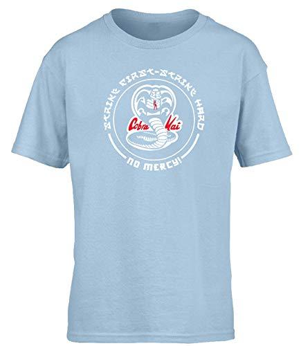 Tengyuntong Camisetas y Tops Hombre Polos y Camisas, Hippowarehouse Cobra Kai Strike First - Camiseta de Manga Corta para niños Strike Hard Kids