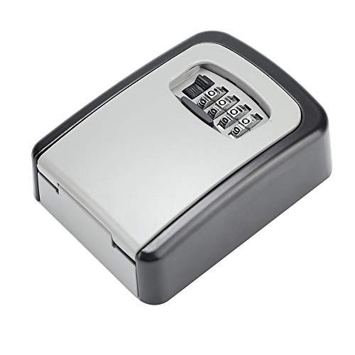Rodipu Caja de Llaves de Seguridad, Caja de Cerradura de Seguridad, aleación de Aluminio fácil de Recordar Operación Simple y fácil Evita los Golpes para el automóvil