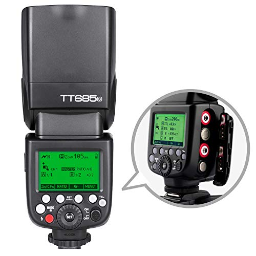Godox TT685S TTL Blitzkamera Blitz Speedlite, 2,4 G HSS 1 / 8000s TTL GN60 Elektronisches Blitzgerät Wireless Lighting System Kompatibel mit Sony TTL...