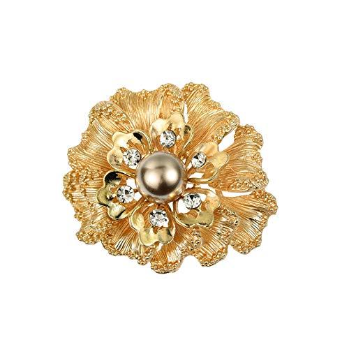 XZFCBH broche, modieus, parel, kristal, broche, reverskraag, sjaal, gesp, voor dames, accessoires
