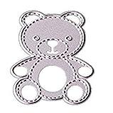 Hemore DIY - Fustelle in metallo a forma di orso, per scrapbooking, goffratura