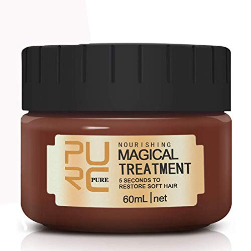 60ml Magical Hair Treatment Mask 5 Seconds Repairs Damage Hair Advanced Molecular Hair deep Conditioner Roots Treatment Return Bouncy Restore Elasticity Hair Care Essence