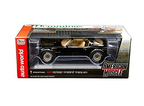 Auto World New DIECAST Toys CAR 1:18 American Muscle - 1977 Pontiac Firebird Trans AM (Gloss Black) - Hemmings Motor New Cover CAR October 2007 AMM1177