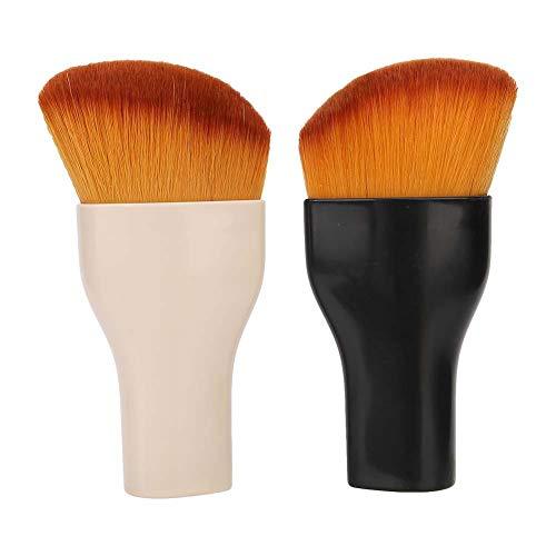 Zwindy Pinceau de Maquillage, 2Pcs/Set Pinceau cosmétique Poudre Libre Blush Pinceau Pinceau Pinceau avec poignée antidérapante pour Les débutants en Maquillage et Les maquilleurs Professionnels.
