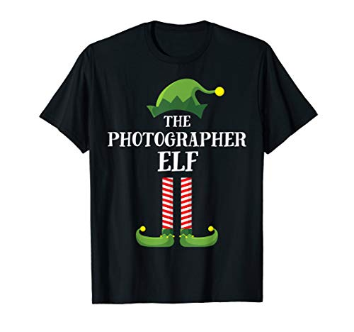 Photographer Elf Matching Family Group Christmas Party PJ T-Shirt