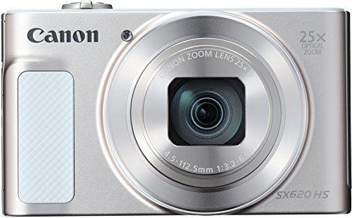 Canon PowerShot SX620 HS Digitalkamera (20,2 MP, 25-fach optischer Zoom, 50-fach ZoomPlus, 7,5cm (3 Zoll) Display, opt Bildstabilisator, WLAN, NFC) silber