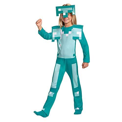 YTO Disfraz de actuacin de Personaje de Juego de Armadura de Diamante clsico para nios Cosplay disfrazarse