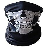BEYCARE Crâne Masque Facial équitation d'extérieur Masque Masque Vélo Ski Crâne moitié Visage fantôme écharpe Multi Utilisation Cou Chaud