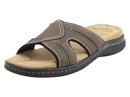 Dockers Men's Slide Sandal, Dark Brown, 9 Wide