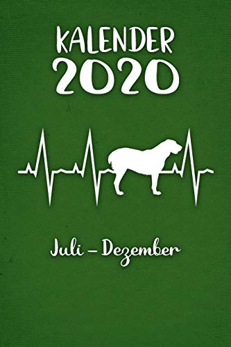 Kalender 2020: Grüner Tageskalender Alabai Herzschlag Hunde 2. Halbjahr Juli Dezember ca...