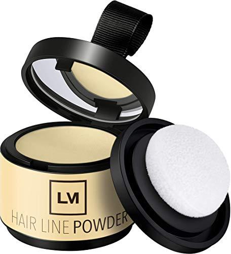 LEON MIGUEL Hair Line Powder - Ansatzpuder/Concealer | Haarverdichtung und Make-up zum Ansatz kaschieren | Wasserfest (HELLBLOND)