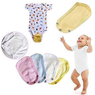 Xinxin 4 Pack Baby Bodysuit Extender, Soft Jumpsuit Romper Extender Lengthening Kit (4)