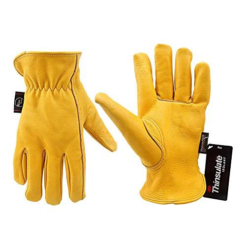 KIM YUAN Winter Warm Work Gloves 3M Thinsulate Lining Perfect for Gardening/Cutting/Construction/Motorcycle, Men & Women