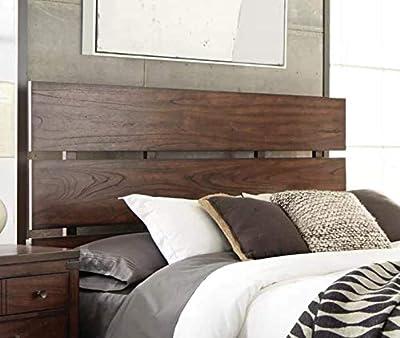 Cabecero de Madera Rústico Vintage para Cama de 160 y 150 cm Cabeceros de madera de pino maciza Cabezales de cama para dormitorios de matrimonio Color nogal. Medidas: 112 cm de largo y 160 cm de ancho. Para cama 160 , 150 cm
