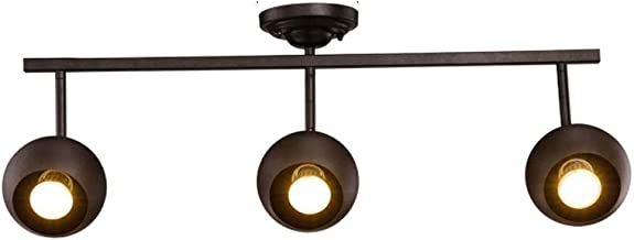 MX Track Light - Living Room Wall Track Lights Decorative Spotlights - Black - 70cm - 3 Heads Track Lamp
