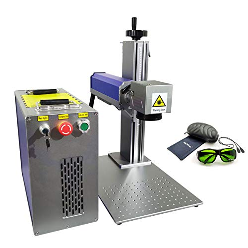 20W Fiber Laser Engraver, Max Raycus Laser Marking Machine for Metal Engraving Laser 1064nm Steel Aluminum Copper Etching