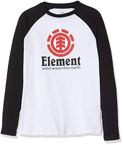 Element Jungen Vertical Raglan Langarm-t-Shirt, Optic White, 10