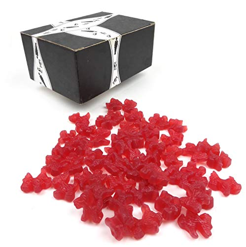 Gimbal's Classic Red Licorice Scottie Dogs, 1 lb Bag in a BlackTie Box