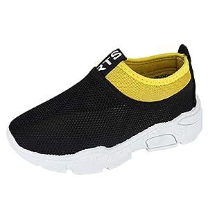 YWLINK NiñOs NiñAs Zapatos, Malla Colores Mezclados Zapatillas Casual Zapatos Al Aire Libre MontañIsmo Corriendo Moda Casual Antideslizante Transpirable Fiesta Regalo(Negro,31EU)