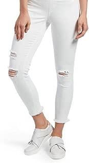 Women's Pink Original Denim Ripped Knee Leggings Tutu