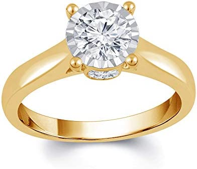 1 cttw La4ve Diamonds 1 00 Carat Diamond Engagement Ring In 14K Yellow Gold Color I J Clarity product image