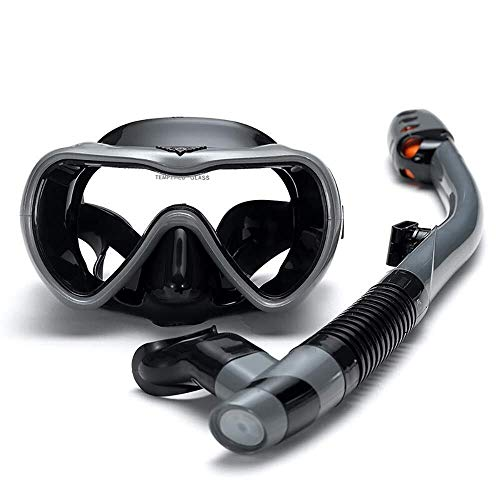 ZHUYUE Comfortabel Duikmasker Groot Frame Duikbril Volledige Ademhaling Anti-Mist Zwembril Masker Volledig Gezicht Snorkel Masker (Kleur : Multi-4, Maat : Een maat)