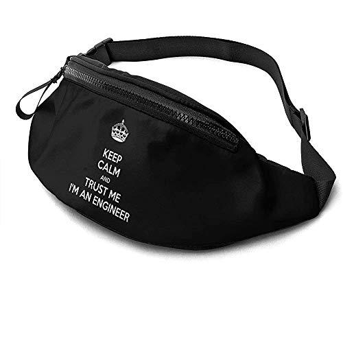 NA Trust Me I 'M an Engineer Runner' S Fanny Bag Waist Pack Sangles Réglables Poche avec Prise pour Casque pour Unisexe