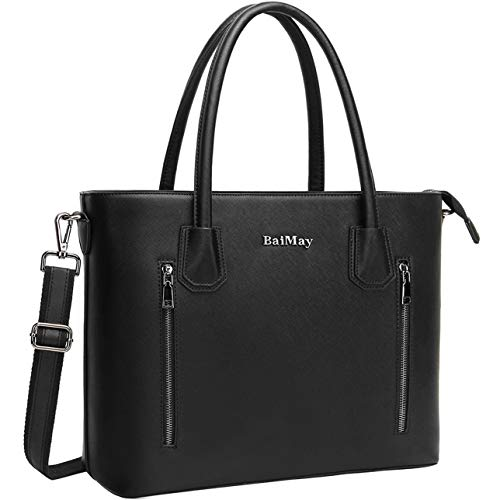 Laptop Bag for Women,15.6 Inch Work Tote Classic Laptop Shoulder Bags Business Computer Purse with Padded Pocket for Office College Travel