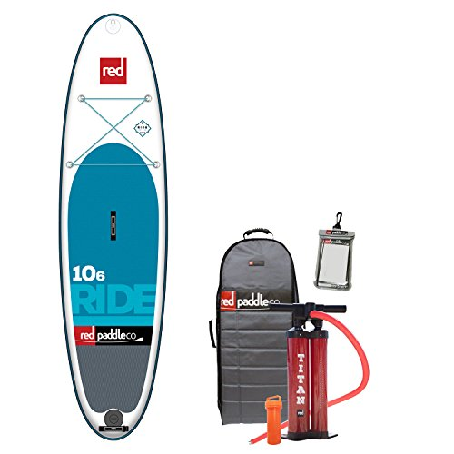 Red Paddle Co 2017 10'6 Ride Inflatable Stand Up Paddle Board + Bag, Pump, Paddle & Leash