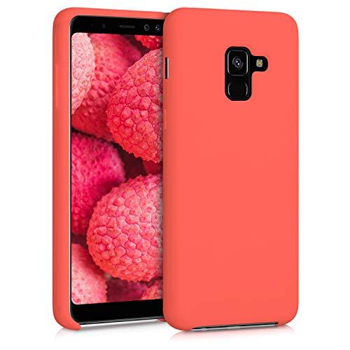 kwmobile Custodia Compatibile con Samsung Galaxy A8 (2018) - Cover in Silicone TPU - Back Case per Smartphone - Protezione Gommata Corallo Vivo