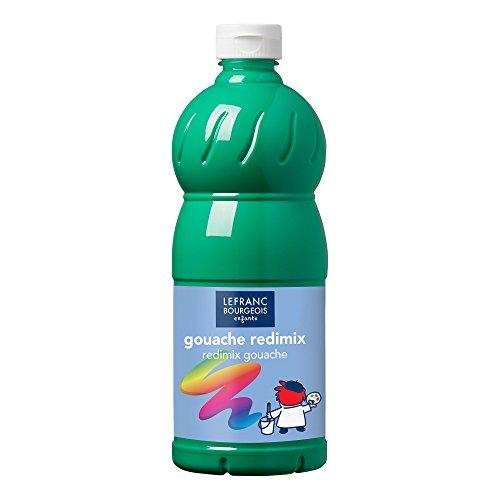 Lefranc Bourgeois- Témperas para niños, Color Verde Franco, 1,000 ml (Lefranc & Bourgeois 188034)