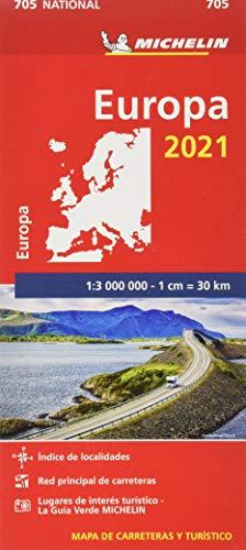 Mapa National Europa 2021 (Mapas National Michelin)
