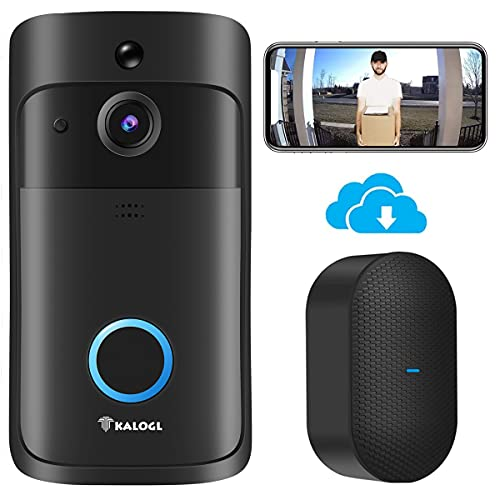 Video Doorbell Wireless WiFi Doorbell Camera with Chime [2021 Upgraded] Monitor No Monthly Fee Cloud Storage HD WiFi Security Camera Two Way Talk for iOS & Android Phone