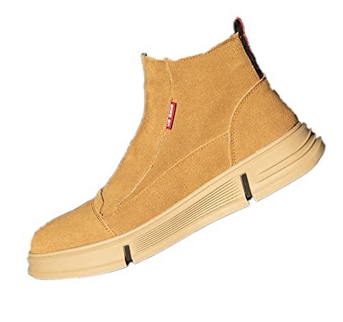 YUANB Zapatos de Soldadura eléctrica de Caucho Suave, Tapa de Punta de...