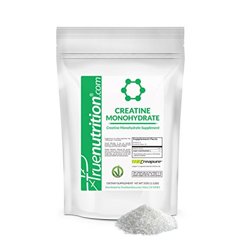 True Nutrition - Creapure® - Micronized Creatine Monohydrate Powder - Vegan Friendly Workout Supplement - Increase ATP Levels & Energy Production - 500g