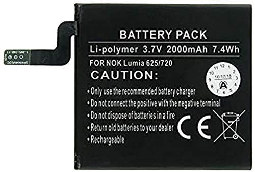 Batería para Nokia Lumia 625, Lumia 720, Nokia BP-4GWA (3,7 V, 2000...