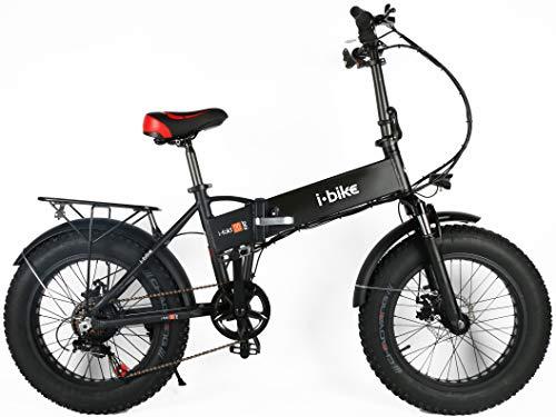 "i-Bike, Fold Fat 20"" Unisex Adulto, Black, Unica"