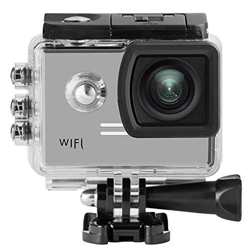 SJ5000X Gyro Deporte acción de la cámara 4K WiFi H.264 Buceo 30M Impermeable de los Deportes de DV SJ5000x F11.12C (Bundle : Standard, Color : Silver)