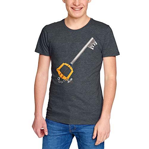 Disney Kingdom Hearts Camiseta Hombre Key Sword Gris - M