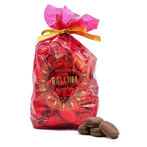 'Baci Gallina' baci di dama al cioccolato - sacchetto 980gr , Eccellenza artigiana Piemonte, - biscotti al cioccolato