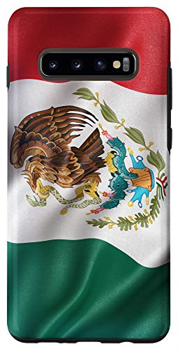 Galaxy S10+ Flag of Mexico Mexican National Symbol Pride Travel Case