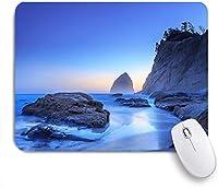 ECOMAOMI 可愛いマウスパッド オレゴン太平洋USA海サンセットサンライズビーチ 滑り止めゴムバッキングマウスパッドノートブックコンピュータマウスマット