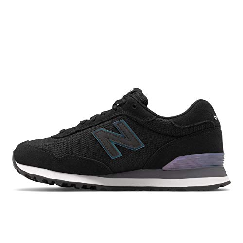 Zapatillas New Balance 515v1 para mujer, negro (Negro/Tornasolado), 35.5 EU