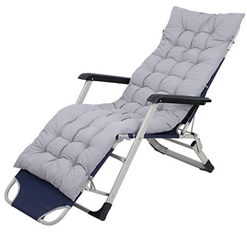 squarex Patio Chaise Longue Coussin Chaise Longue Coussins Rocking Chair Canapé Coussin Berceau Chaise Chaise de Jardin (Gris)