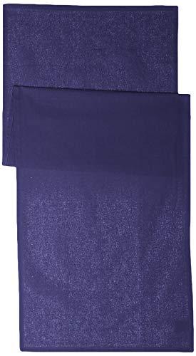 TODAY 257551Camino de Mesa de algodón, 50x 150cm, algodón, Ciel d'orage/Bleu Marine, 50x150 cm