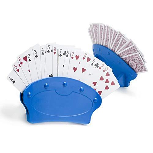 Magent Karten Halter Spielkartenständer Spielkartenhalter Kartenhalter für Spielkarten-Halter, Blau, Befreie Deine Hände, Einfaches Spiel