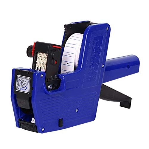 Famcry MX-5500 8 Digits Pricing Gun with 1 Lines Sticker Labels and 1 Ink Refill, Label Maker Price tag Gun Kit Numerical Tag Gun for Office, Retail Shop, Grocery Store, Organization Marking (Blue)