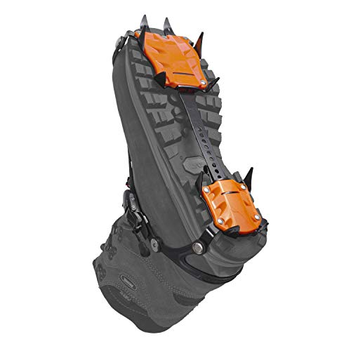 Hillsound Trail Crampon Pro - Ice Traction Device/Crampons, 10 Carbon Steel Spikes, 2 Year Warranty (Black, Regular)
