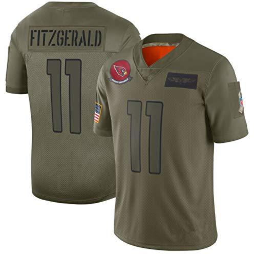 cjbaok NFL Fußball Jersey Arizona Cardinals # 11 Fitzgerald # 40 Tillman Jersey Kurzarm Top T-Shirts (Grün),Green-11,XXL